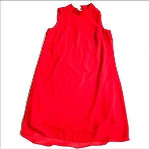 By & By red shift sheer chiffon  dress small